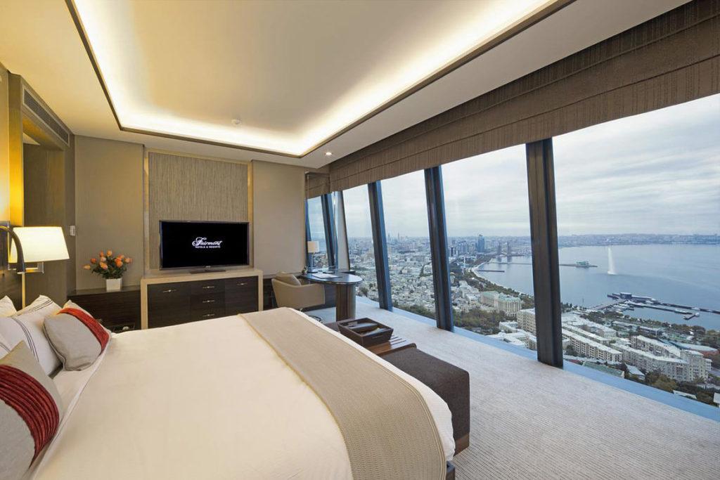 اتاق دابل رو به دریا در هتل فیرمونت باکو