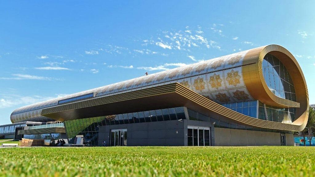 تصویری از ساختمان موزه فرش باکو