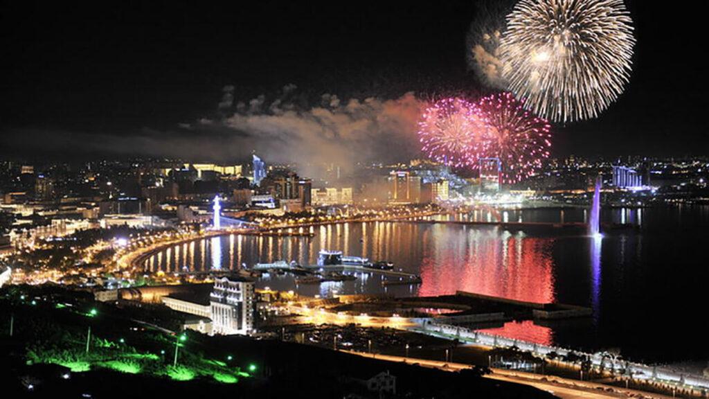 نور افشانی کریسکس 2020 در تور کریسمس باکو