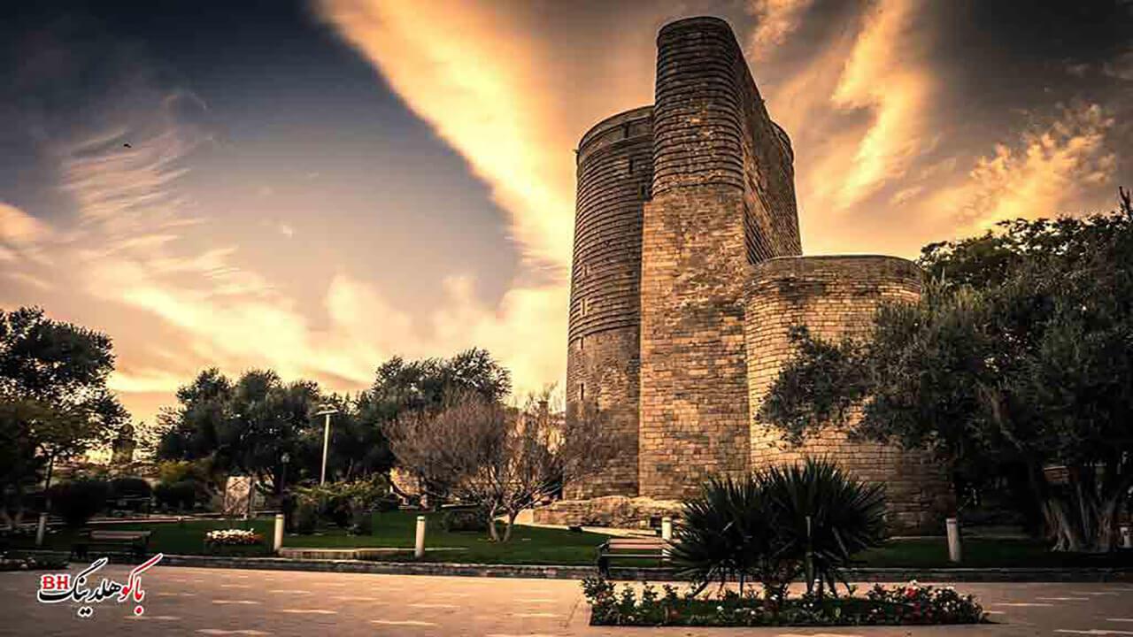 تصویری از قلعه دختر باکو در ساختمان های منحصر به فرد باکو