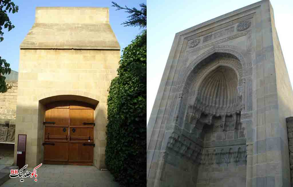 تصویری از دروازه مراد در کاخ شیروانشاهان