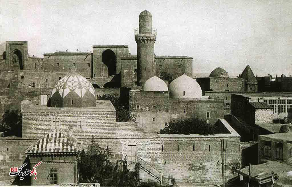 تصویری قدیمی از کاخ شیروانشاهان