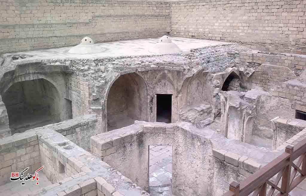 تصویری از حمام کاخ شیروانشاهان