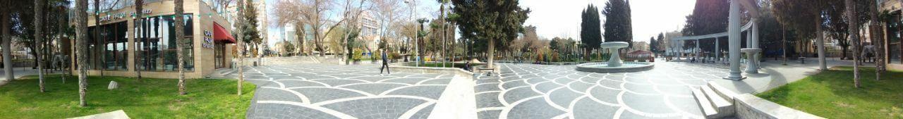 تصویر پانورامیک از میدان فواره باکو