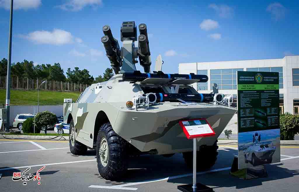 تصوری از یک تانک در نمایشگاه صنایع دفاعی آذربایجان