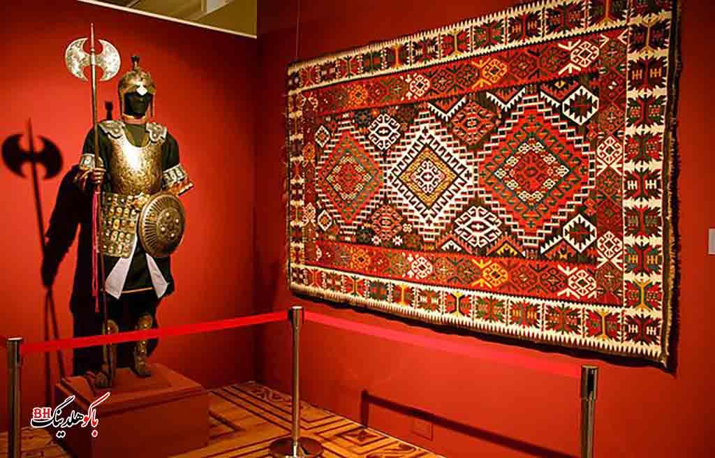 تصویری از آثار موجود در موزه هنر آذربایجان