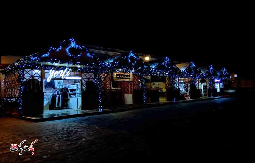 تصویری از بازارچه های کریسمس در باکو