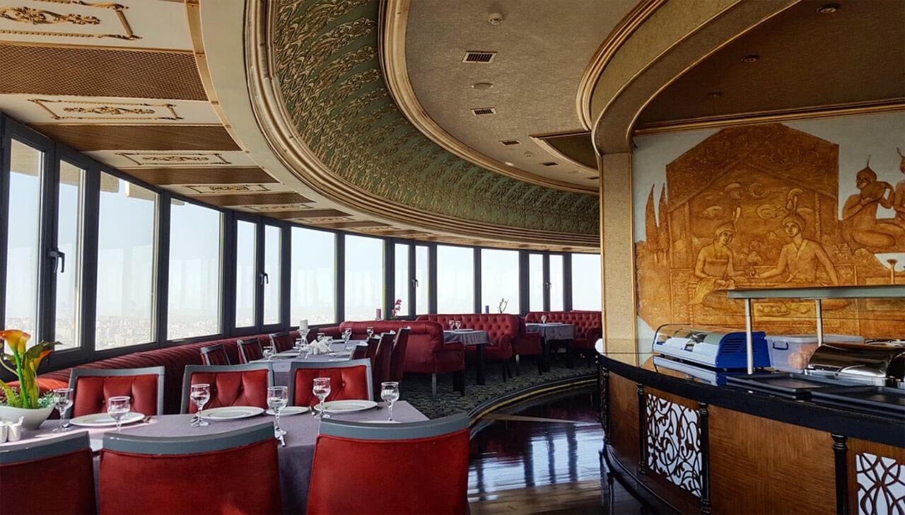 تصویری از داخل رستوران برج تلویزیون باکو