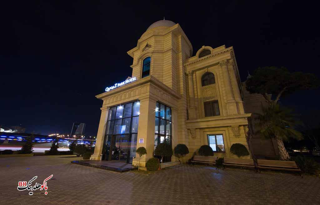تصویری از ساختمان هتل قفقاز پارک باکو