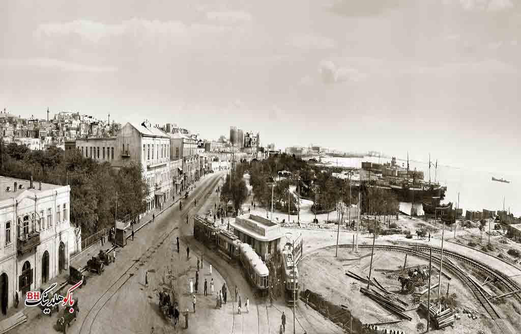 تصویری قدیمی از بلوار باکو