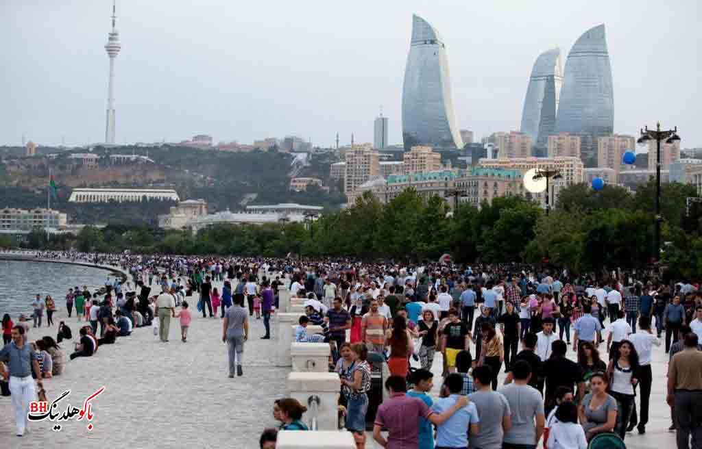 تصویری از مردم شهر باکو