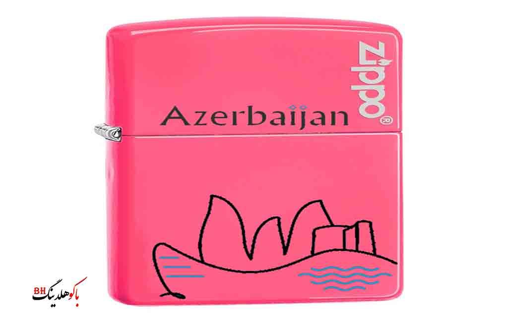 تصویری از فندک های آذری با نماد باکو
