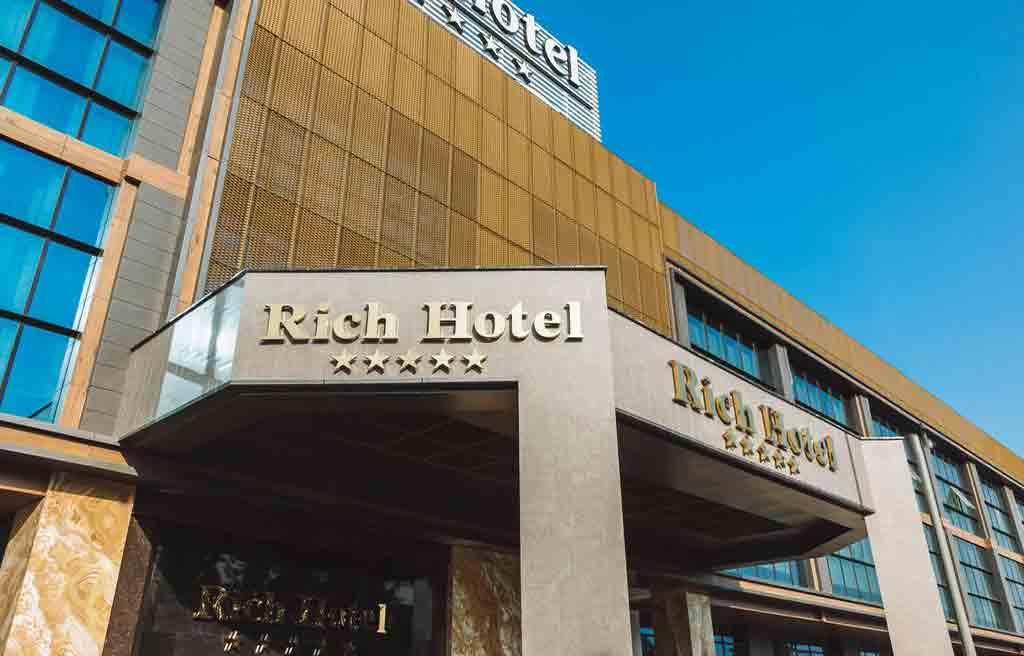تصویری از ساختمان هتل ریچ باکو
