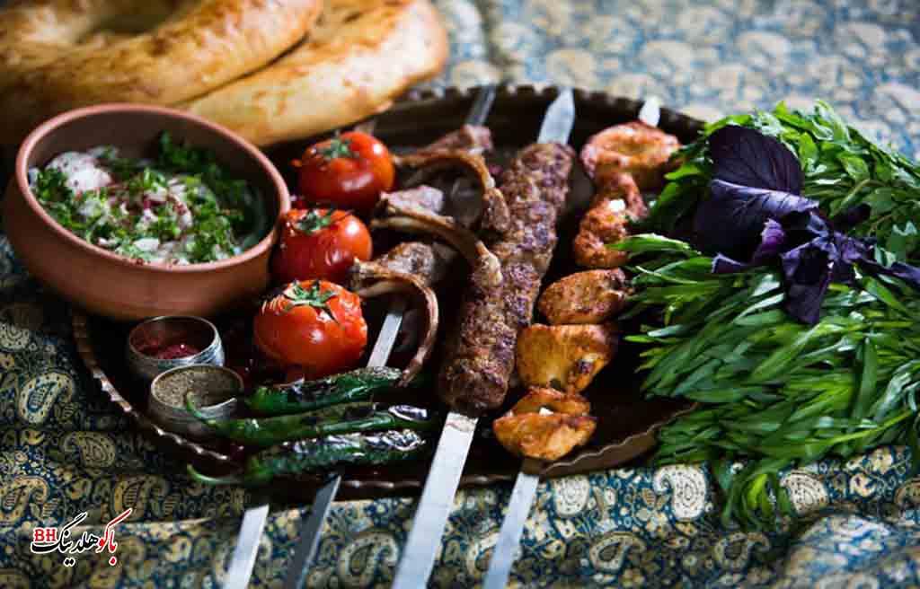 تصویری از غذا و نوشیدنی در شهر باکو
