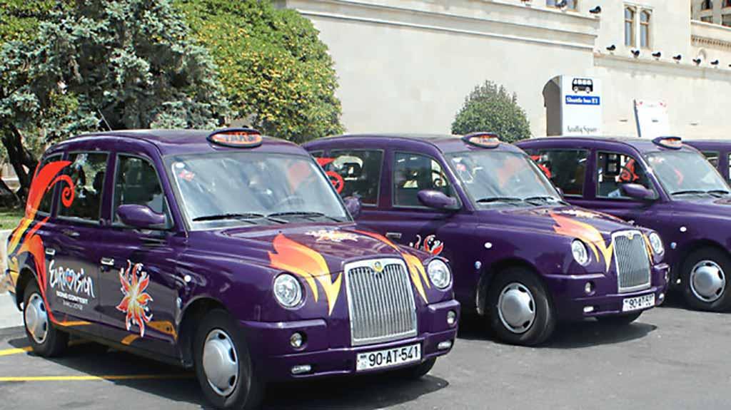 تاکسی های شهر باکو در هزینه های سفر به باکو