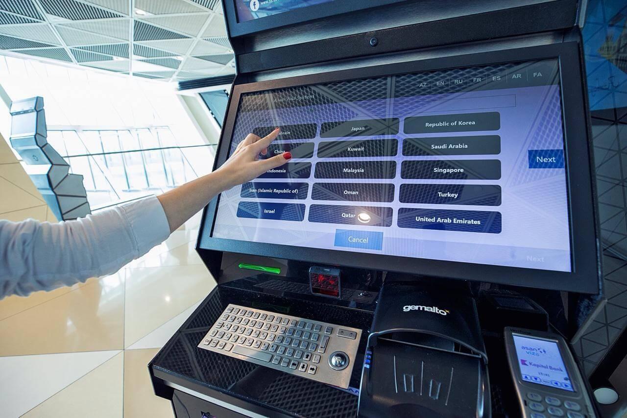 تصویری از سیستم ویزای فرودگاهی آذربایجان