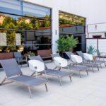 محوطه استخر روباز هتل اکسلسیور باکو