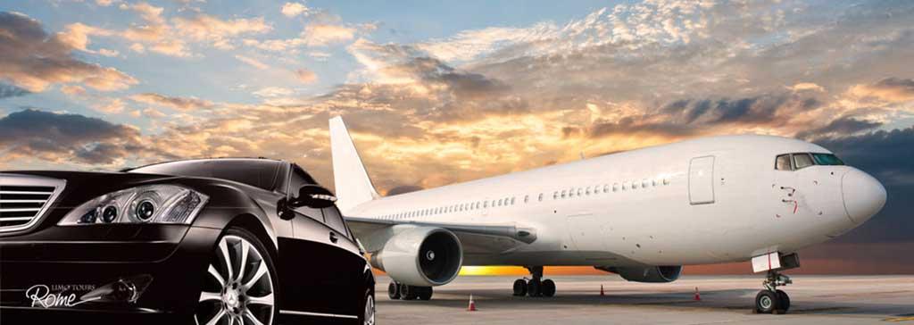 یک ماشین در کنار هواپیما در ترانسفر به باکو