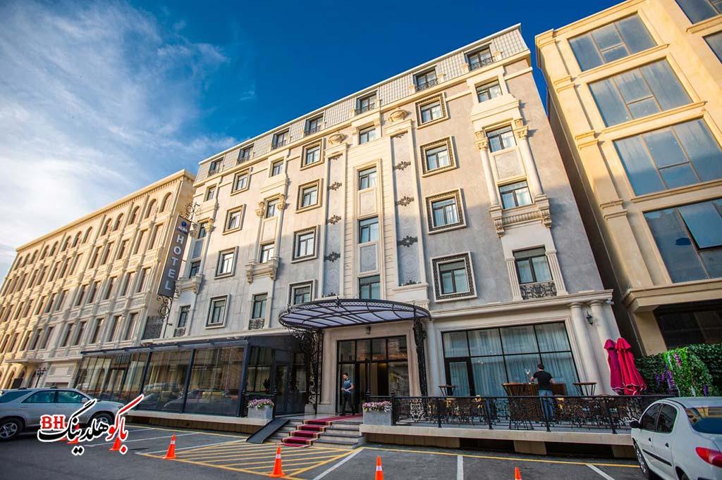 تصویری از ساختمان هتل آلبا