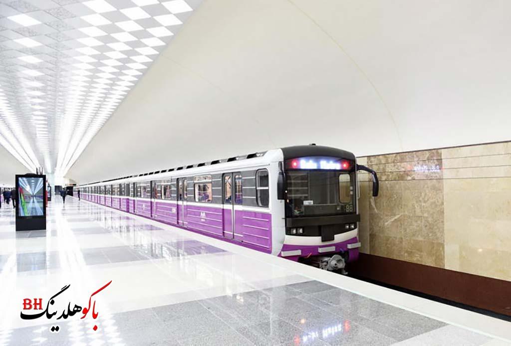 تصویری از متروی شهر باکو