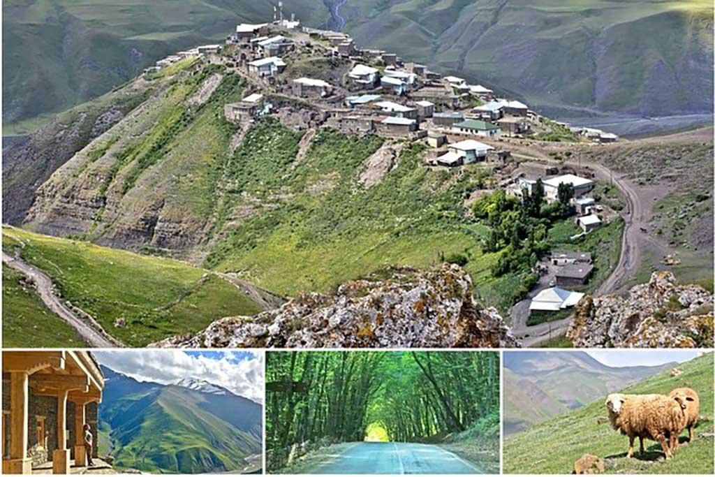 تصویری از روستای خینالوگ