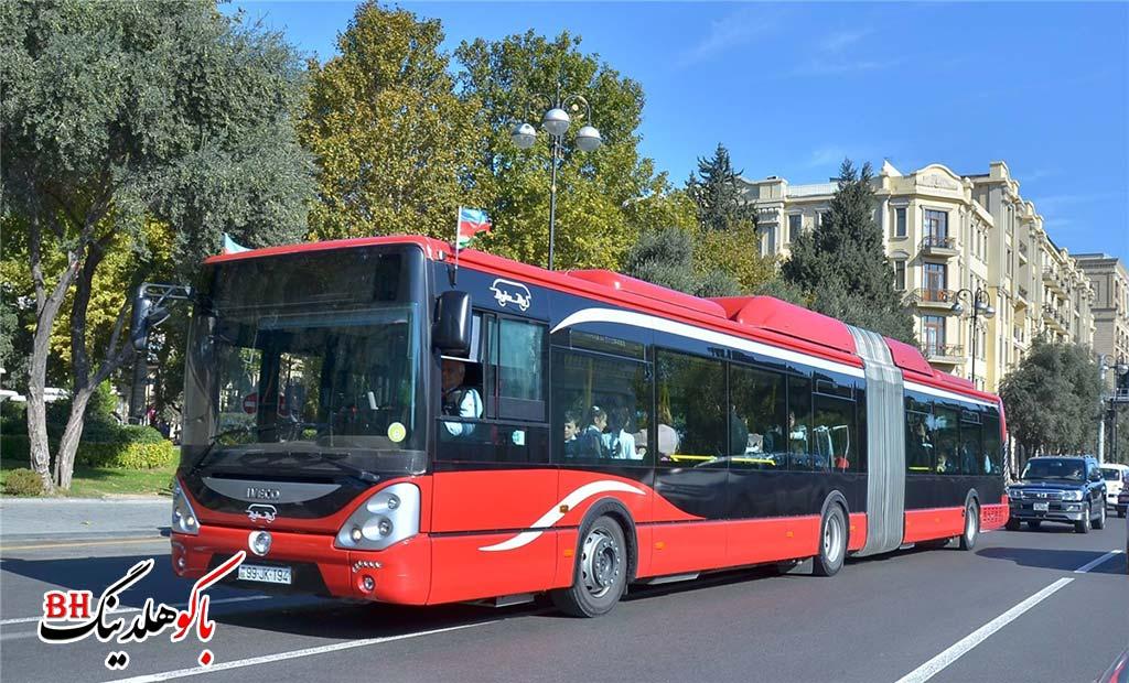 اتوبوس های شهری در شهر باکو