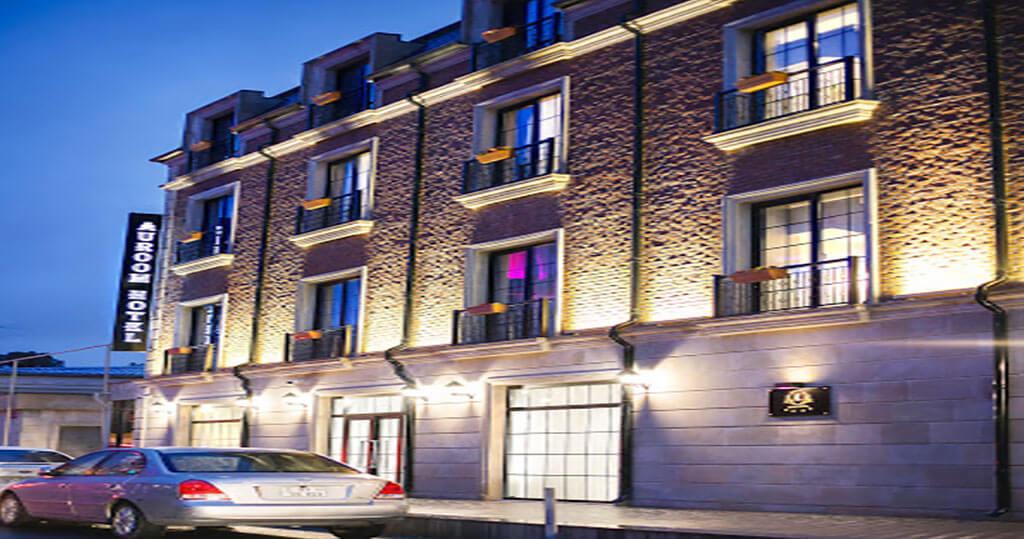 تصویری از ساختمان هتل آئوروم باکو