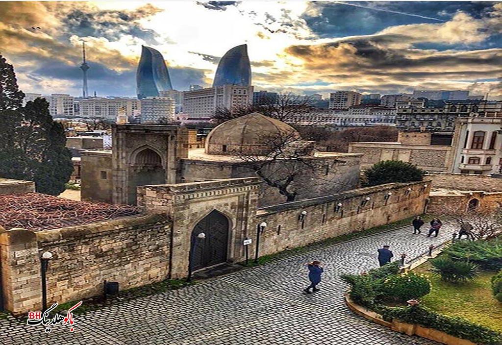 تصویری از شهر قدیمی باکو در پائیز