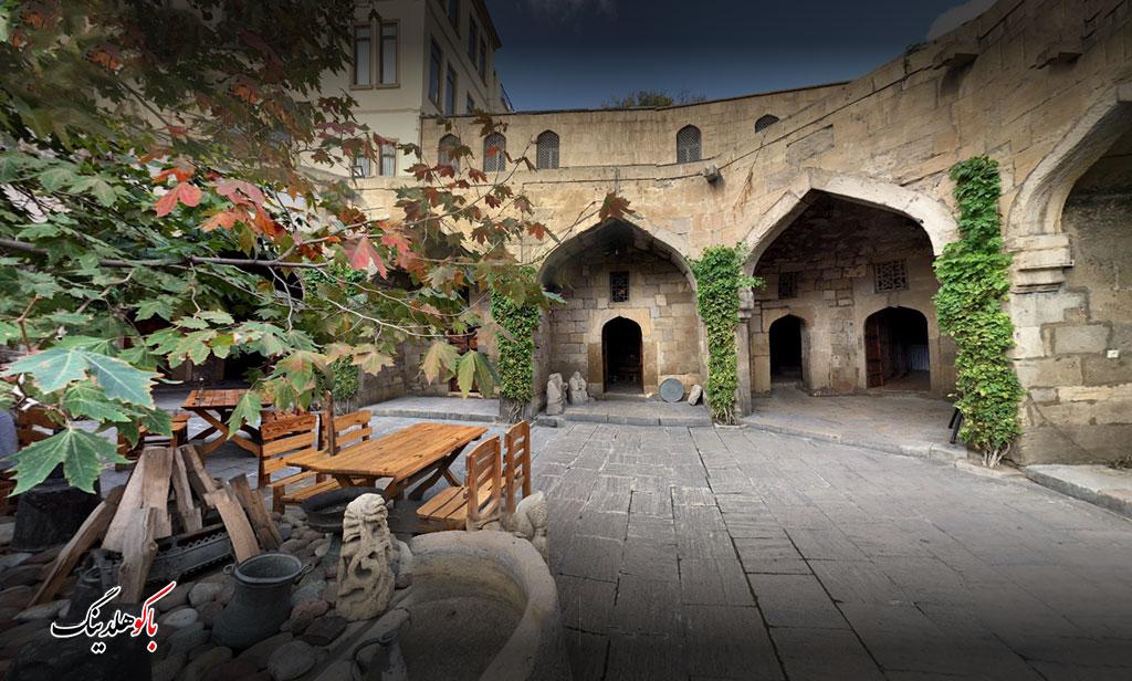 تصویری از دیوان کاروانسرای بخارا در باکو