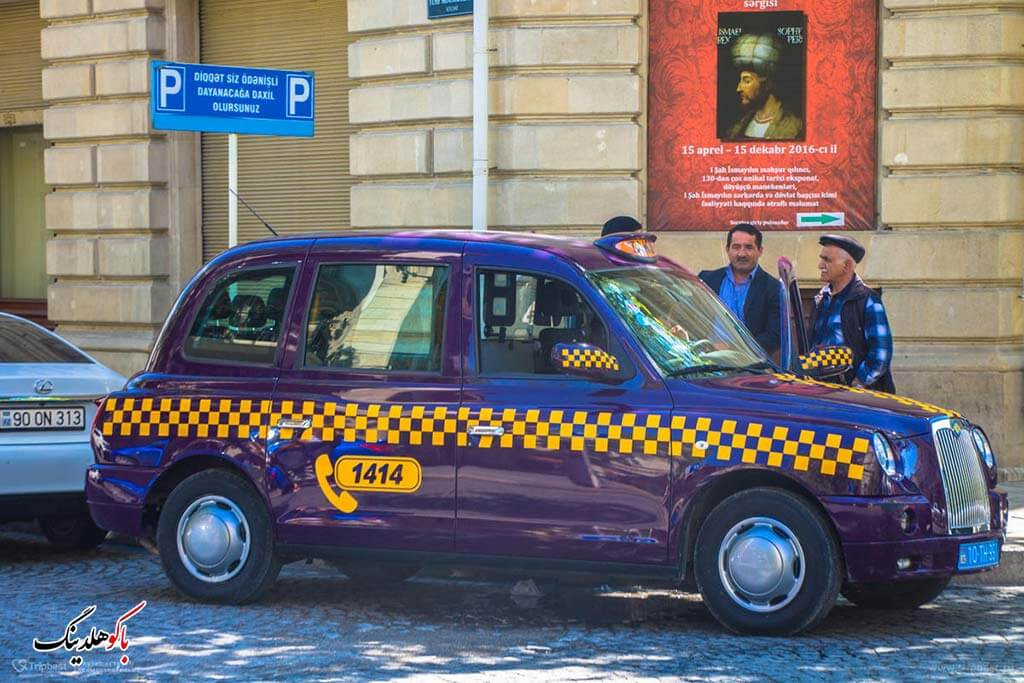 تصویری از تاکسی های شهری باکو
