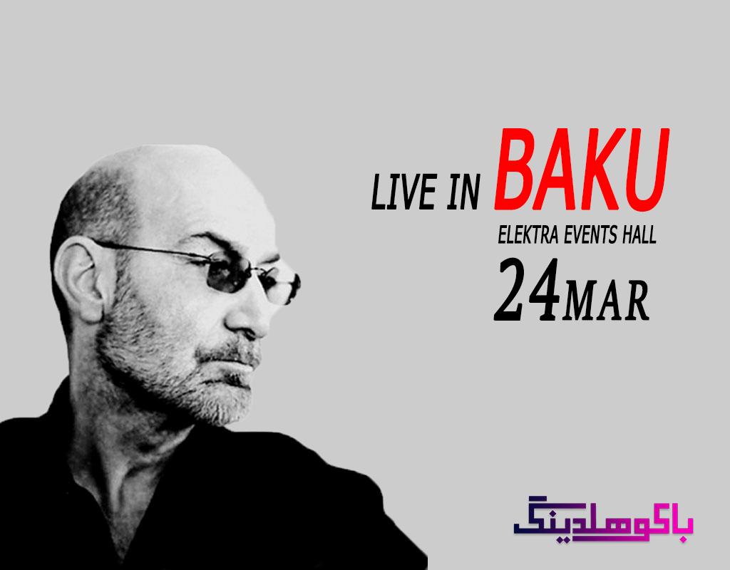 بنر کنسرت سیاوش قمیشی در باکو