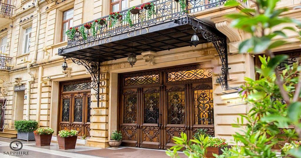 درب ورودی هتل سافیر سیتی باکو