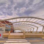 ورودی رستوران فینس هتل رامادا بیچ باکو