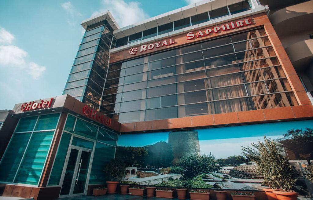 تصویری از ساختمان هتل رویال سافیر باکو