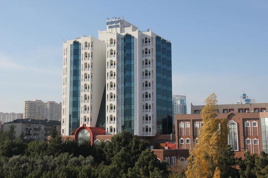 تصویری از ساختمان هتل گرین سیتی باکو