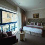 اتاق دو تخته با نمای خیابان در هتل سلام باکو