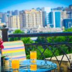 بالکن اتاق های هتل اولد سیتی این باکو