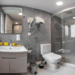 سرویس بهداشتی و حمام اتاق های هاستل الیوا این باکو