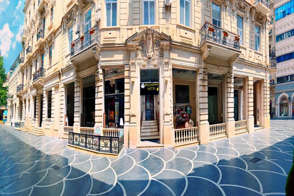 تصویری از ساختمان هتل مالاک هان باکو