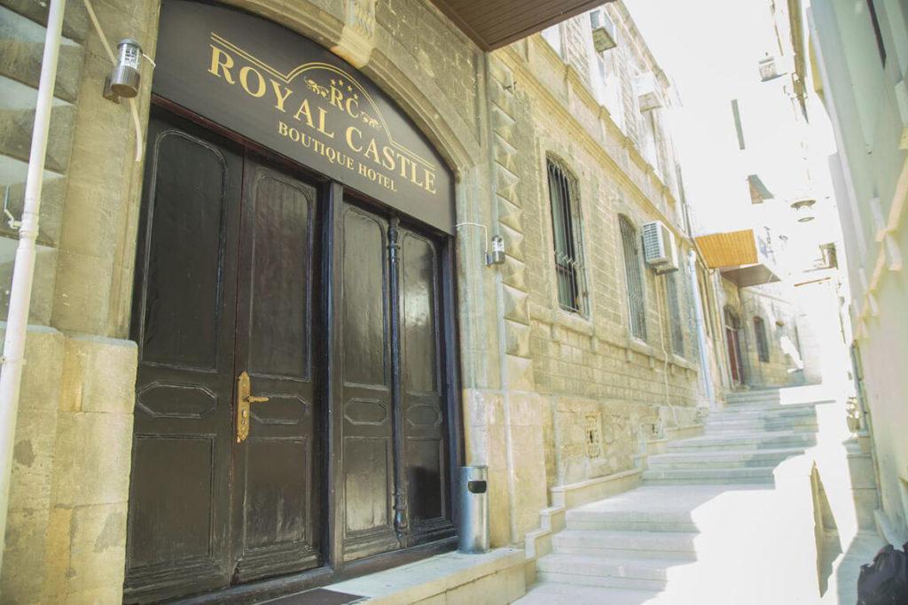 درب ورودی هتل رویال کسل بوتیک باکو