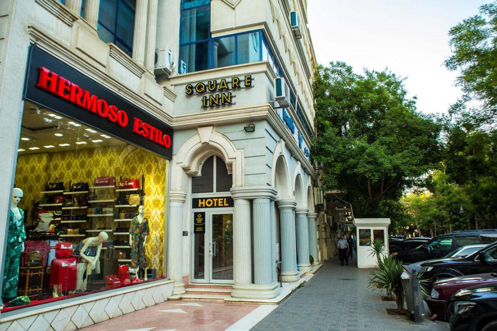 درب ورودی هتل اسکوئر این باکو