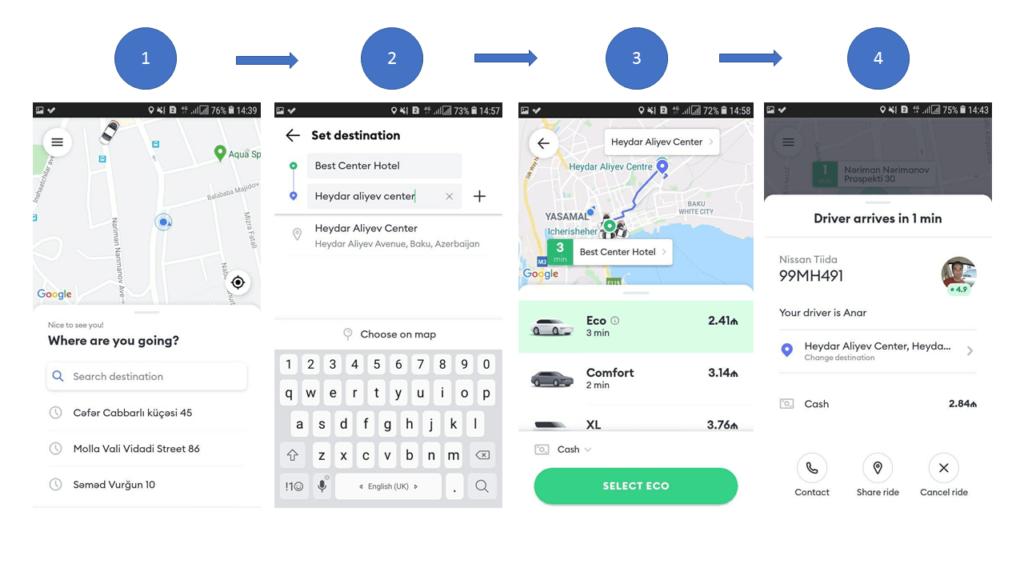 روش استفاده از اپلیکیشن اینترنتی بولت در باکو