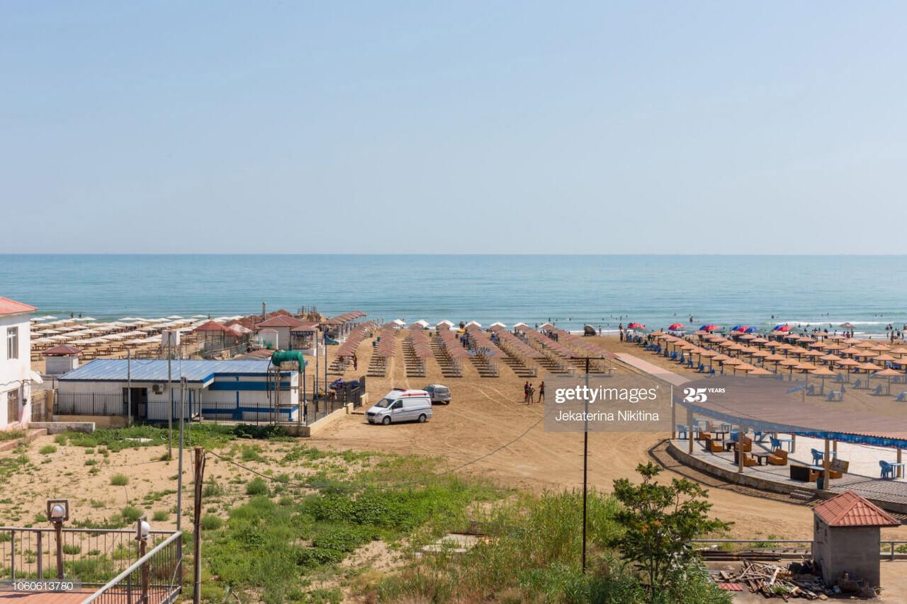 تصویری از ساحل بیلگه بیچ در باکو