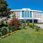 محوطه هتل خزری باکو