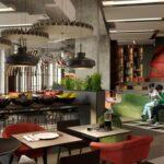 محوطه صبحانه هتل آیبیس باکو سیتی